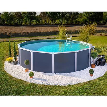 piscine grise hors sol