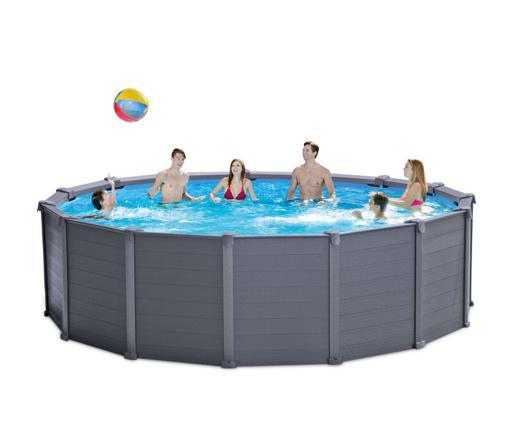 piscine hors sol graphite