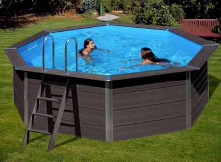 piscine hors sol grise