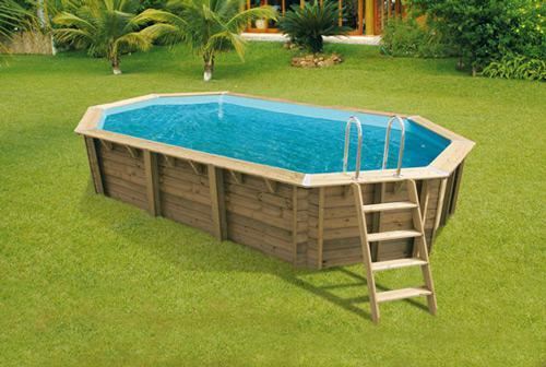 piscine ovale bois