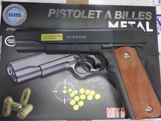 pistolet metal a bille