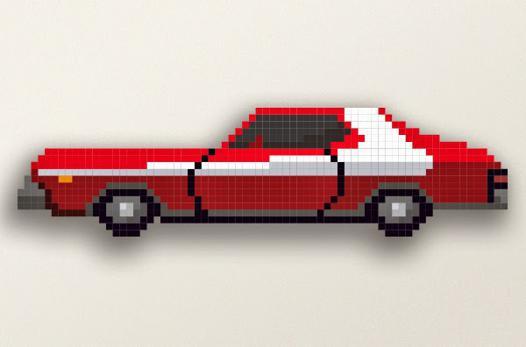 pixel voiture de course