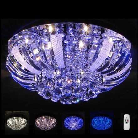 plafonnier cristal led