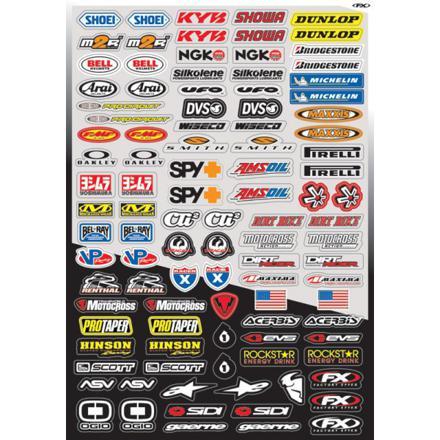 planche stickers moto