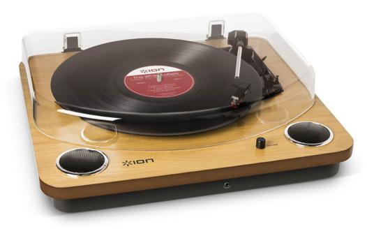 platine vinyle ion max lp wood