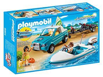 playmobil voiture bateau