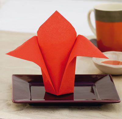 pliage serviette papier rapide